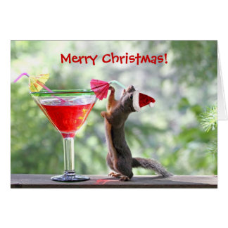 El navidad atesora la consumición de un cóctel tarjeta de felicitación