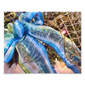 El navidad azul y de plata arquea la guirnalda de cojinete