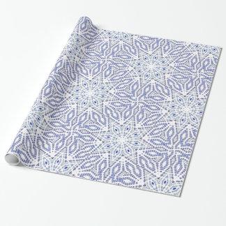 El navidad blanco azul protagoniza el modelo papel de regalo