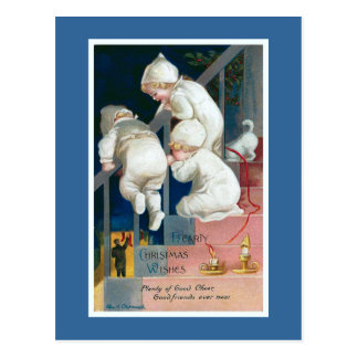 """El """"navidad caluroso desea"""" el vintage tarjetas postales"""