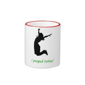 El navidad colorea la taza de café de I POOPED HOY