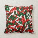 El navidad coloreado asperja la almohada
