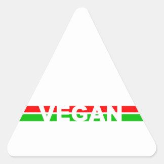 El navidad coloreó rayas del vegano calcomanía triangulo personalizadas