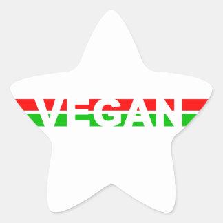El navidad coloreó rayas del vegano calcomania cuadrada personalizada