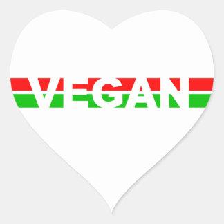 El navidad coloreó rayas del vegano pegatina corazon personalizadas