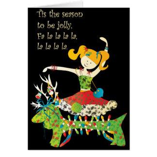El navidad comparte el alegre tarjetón