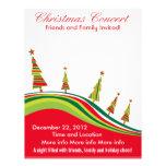 El navidad concierta el aviador rojo y verde tarjetones
