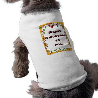 El navidad confina las hierbabuenas acebo coraz camisetas de mascota