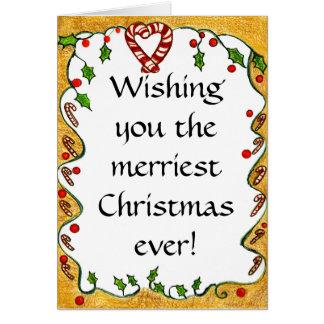 El navidad confina las hierbabuenas acebo coraz felicitaciones