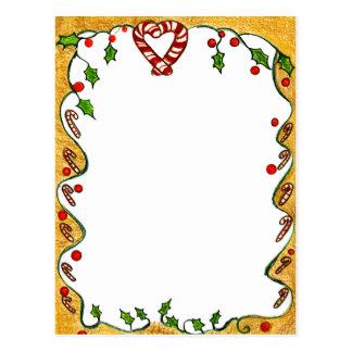El navidad confina las hierbabuenas acebo coraz tarjetas postales