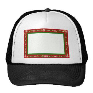 El navidad confina los copos de nieve rojos de la  gorras de camionero