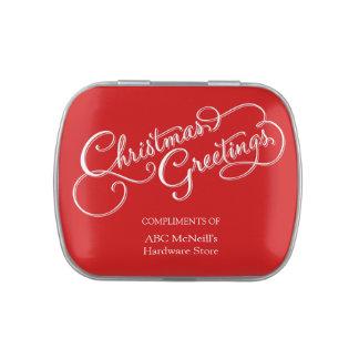El navidad corporativo da lejos jarrones de dulces