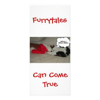 El navidad cree el gatito blanco y negro tarjeta publicitaria