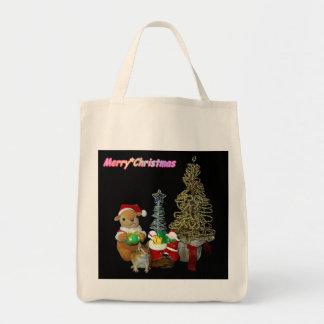 El navidad de Chimunk, ardilla, シマリスのクリスマス Bolsa Tela Para La Compra