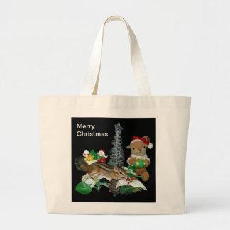 El navidad de Chimunk, ardilla, シマリスのクリスマス Bolsa Tela Grande