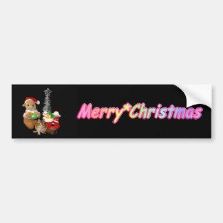 El navidad de Chimunk, ardilla, シマリスのクリスマス Pegatina Para Auto