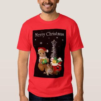 El navidad de Chimunk, ardilla, シマリスのクリスマス Polera