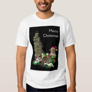 El navidad de Chimunk, ardilla, シマリスのクリスマス Poleras