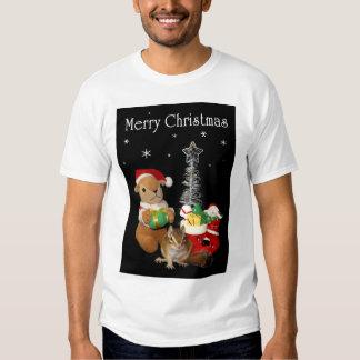El navidad de Chimunk, ardilla, シマリスのクリスマス Remera