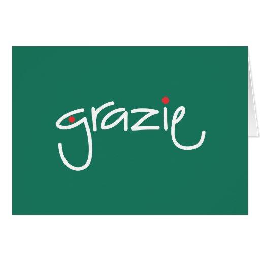 El navidad de Grazie le agradece en cualquier leng Tarjeta