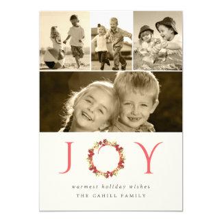 """El navidad de la alegría enrruella el collage invitación 5"""" x 7"""""""