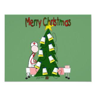 """El navidad de la enfermera diseña """"Felices Navidad Invitaciones Personalizada"""