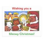 El navidad de los gatos, por Louis Wain Tarjetas Postales