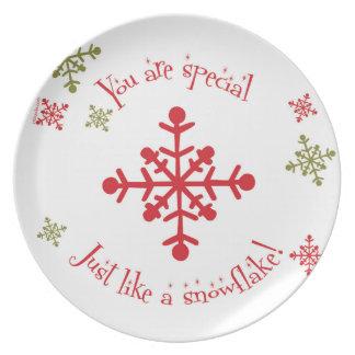 El navidad de los niños plásticos de la placa del platos de comidas