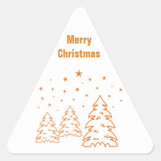 El navidad de los pegatinas ajardina pegatina triangular