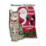El navidad de Meowwy recicla la postal