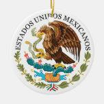 El navidad de MÉXICO adorna/rnamento de la Navidad Adorno Redondo De Cerámica