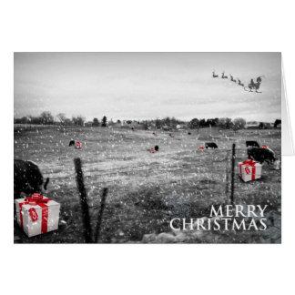 El navidad de una vaca - ubicación genérica tarjetas