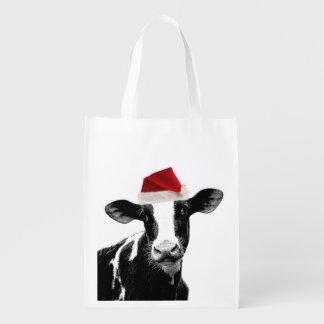 El navidad del animal del campo divertido acobarda bolsa reutilizable