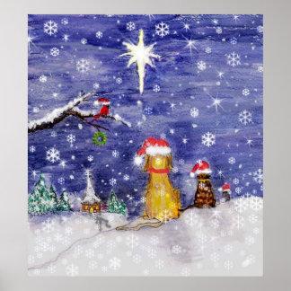 El navidad del animal póster