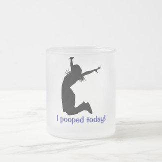 El navidad del elefante blanco amordaza el regalo taza de cristal