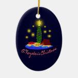 El navidad del Kayaker Adorno De Reyes