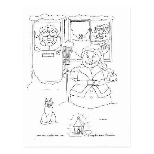 El navidad del muñeco de nieve postal