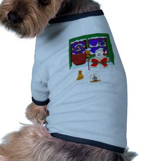 El navidad del muñeco de nieve camisetas mascota