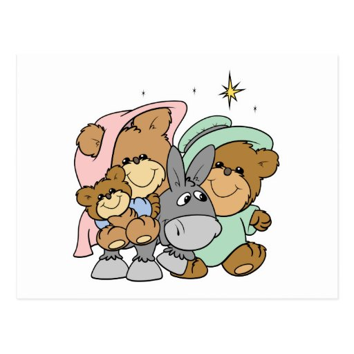 el navidad del oso de peluche de Jesús del bebé de Postal