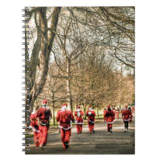 El navidad del padre el 10km corre en Greenwich Libretas Espirales