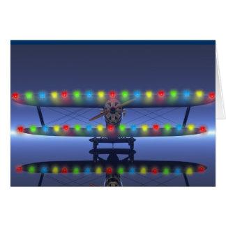 El navidad del piloto felicitación