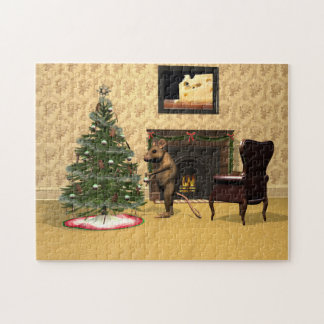 El navidad del ratón puzzle