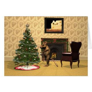 El navidad del ratón tarjeta de felicitación