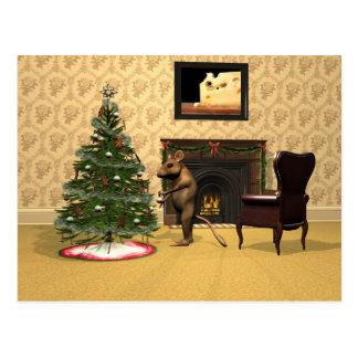 El navidad del ratón tarjetas postales