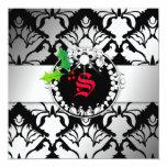 el navidad del reflejo 311-Damask invita a negro Comunicados Personales