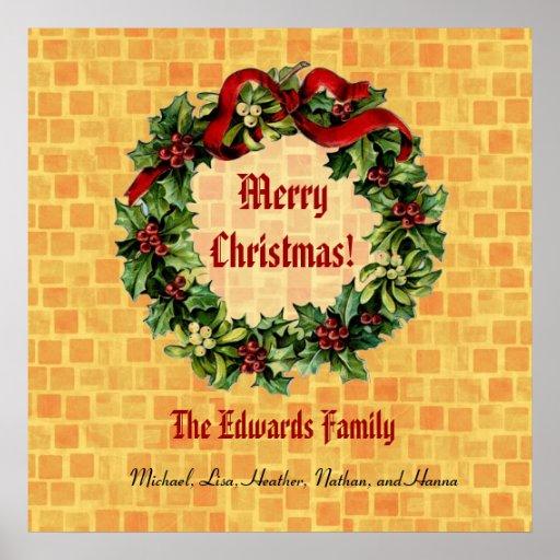 El navidad del vintage enrruella las Felices Navid Impresiones