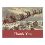 El navidad del vintage le agradece postales