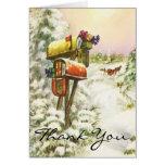 El navidad del vintage le agradece tarjeta