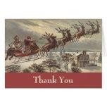 El navidad del vintage le agradece tarjetas