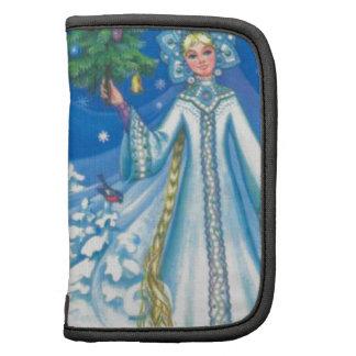 El navidad del vintage, nieva doncella planificadores